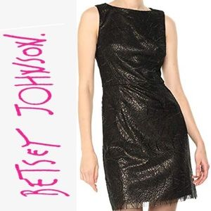 Betsey Johnson Ladies Sheath Sequin Party  Dress